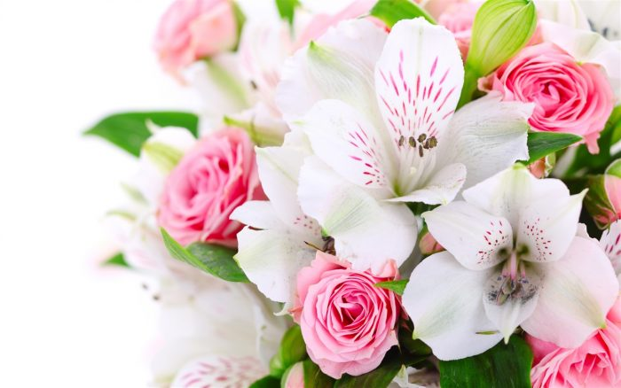букет с орхидеи