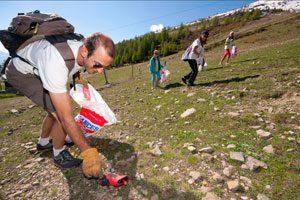 почистване в планината